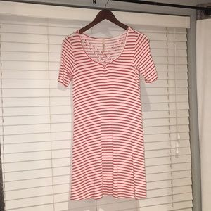 Cute Red and White Striped Summer Dress